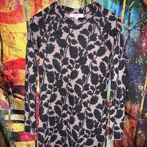 Ann Taylor Loft Long Sleeve Fitted Sweater Dress.